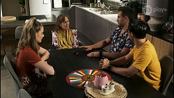 Chloe Brennan, Fay Brennan, Aaron Brennan, David Tanaka in Neighbours Episode 8562