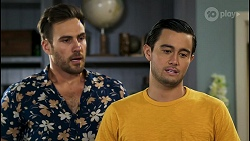 Aaron Brennan, David Tanaka in Neighbours Episode 8562