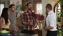Yashvi Rebecchi, Ned Willis, Shane Rebecchi, Toadie Rebecchi in Neighbours Episode 8562