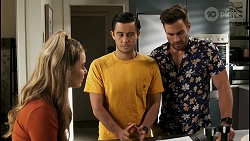 Chloe Brennan, David Tanaka, Aaron Brennan in Neighbours Episode 8562