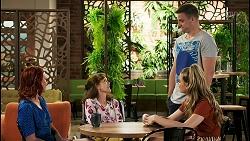Nicolette Stone, Fay Brennan, Kyle Canning, Chloe Brennan in Neighbours Episode 8563
