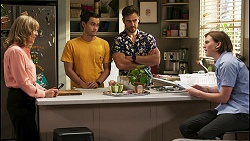 Jane Harris, David Tanaka, Aaron Brennan, Brent Colefax in Neighbours Episode 8563