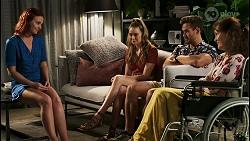 Nicolette Stone, Chloe Brennan, Aaron Brennan, Fay Brennan in Neighbours Episode 8563