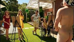Nicolette Stone, Chloe Brennan, Aaron Brennan, Fay Brennan, Kyle Canning in Neighbours Episode 8563