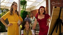 Chloe Brennan, Fay Brennan, David Tanaka, Aaron Brennan, Nicolette Stone in Neighbours Episode 8563