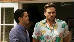 David Tanaka, Aaron Brennan in Neighbours Episode 8563