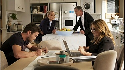 Ned Willis, Harlow Robinson, Paul Robinson, Terese Willis in Neighbours Episode 8564