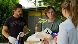 Ned Willis, Brent Colefax, Harlow Robinson in Neighbours Episode 8564