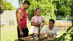 Levi Canning, Roxy Willis, Kyle Canning in Neighbours Episode 8565