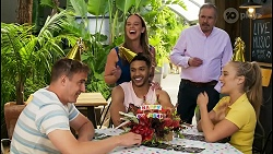 Kyle Canning, Bea Nilsson, Levi Canning, Karl Kennedy, Roxy Willis in Neighbours Episode 8565