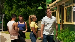 Levi Canning, Bea Nilsson, Roxy Willis, Kyle Canning in Neighbours Episode 8566