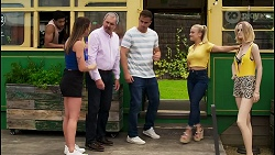 Levi Canning, Bea Nilsson, Karl Kennedy, Kyle Canning, Roxy Willis in Neighbours Episode 8566