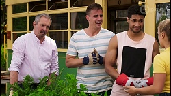 Karl Kennedy, Kyle Canning, Levi Canning, Roxy Willis in Neighbours Episode 8567