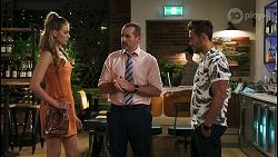Chloe Brennan, Toadie Rebecchi, Aaron Brennan in Neighbours Episode 8568