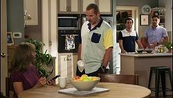 Jane Harris, Toadie Rebecchi, David Tanaka, Aaron Brennan in Neighbours Episode 8568