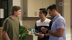 Brent Colefax, David Tanaka, Aaron Brennan in Neighbours Episode 8568