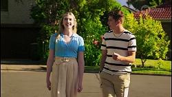 Mackenzie Hargreaves, Hendrix Greyson in Neighbours Episode 8569