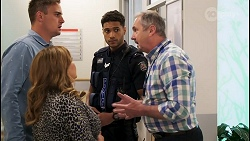 Kyle Canning, Terese Willis, Levi Canning, Karl Kennedy in Neighbours Episode 8571