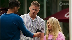 Levi Canning, Kyle Canning, Roxy Willis in Neighbours Episode 8571