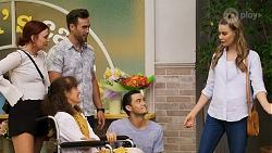 Nicolette Stone, Fay Brennan, Aaron Brennan, David Tanaka, Chloe Brennan in Neighbours Episode 8572