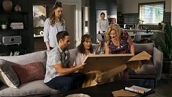 Chloe Brennan, Aaron Brennan, Fay Brennan, Nicolette Stone, Sheila Canning in Neighbours Episode 8572