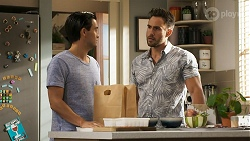 David Tanaka, Aaron Brennan in Neighbours Episode 8572