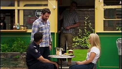 Levi Canning, Shane Rebecchi, Kyle Canning, Roxy Willis in Neighbours Episode 8573