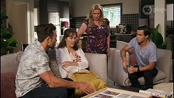 Aaron Brennan, Fay Brennan, Sheila Canning, David Tanaka in Neighbours Episode 8573