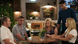 Toadie Rebecchi, Kyle Canning, Sheila Canning, Levi Canning, Roxy Willis in Neighbours Episode 8573