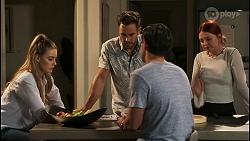 Chloe Brennan, Aaron Brennan, David Tanaka, Nicolette Stone in Neighbours Episode 8573