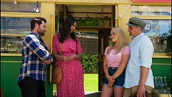 Shane Rebecchi, Dipi Rebecchi, Roxy Willis, Kyle Canning in Neighbours Episode 8573