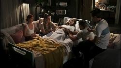 Nicolette Stone, Chloe Brennan, Fay Brennan, Aaron Brennan, David Tanaka in Neighbours Episode 8573