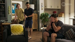 Brent Colefax, David Tanaka, Aaron Brennan in Neighbours Episode 8574