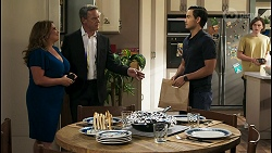 Terese Willis, Paul Robinson, David Tanaka, Brent Colefax in Neighbours Episode 8574