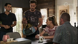 David Tanaka, Aaron Brennan, Chloe Brennan, Toadie Rebecchi in Neighbours Episode 8574