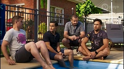 Kyle Canning, David Tanaka, Toadie Rebecchi, Aaron Brennan in Neighbours Episode 8574