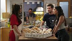 Dipi Rebecchi, Ned Willis, Yashvi Rebecchi in Neighbours Episode 8576
