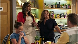 Bea Nilsson, Dipi Rebecchi, Terese Willis, Kyle Canning in Neighbours Episode 8576