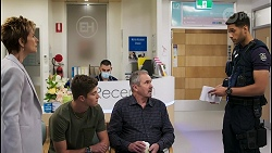 Susan Kennedy, Hendrix Greyson, Karl Kennedy, Levi Canning in Neighbours Episode 8577