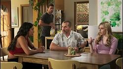 Yashvi Rebecchi, Ned Willis, Toadie Rebecchi, Mackenzie Hargreaves in Neighbours Episode 8577