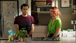 David Tanaka, Nicolette Stone in Neighbours Episode 8578