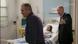 Karl Kennedy, Olivia Bell, Clive Gibbons in Neighbours Episode 8578