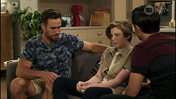 Aaron Brennan, Emmett Donaldson, David Tanaka in Neighbours Episode 8579