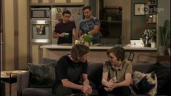David Tanaka, Aaron Brennan, Brent Colefax, Emmett Donaldson in Neighbours Episode 8579