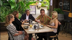 Harlow Robinson, Terese Willis, Paul Robinson, Kyle Canning, Roxy Willis in Neighbours Episode 8579