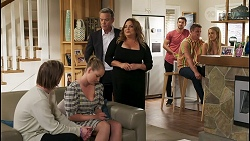 Brent Colefax, Harlow Robinson, Paul Robinson, Terese Willis, Ned Willis, Kyle Canning, Roxy Willis in Neighbours Episode 8579