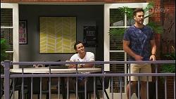 David Tanaka, Aaron Brennan in Neighbours Episode 8580