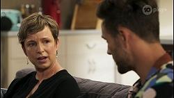 Linda Donaldson, Aaron Brennan in Neighbours Episode 8580