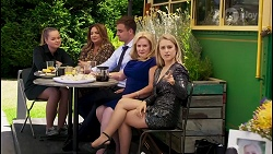 Harlow Robinson, Terese Willis, Kyle Canning, Sheila Canning, Roxy Willis in Neighbours Episode 8580