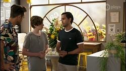 Aaron Brennan, Emmett Donaldson, David Tanaka in Neighbours Episode 8580